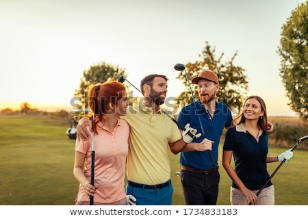 Maschio golfista verde uomo t-shirt piedi Foto d'archivio © IS2
