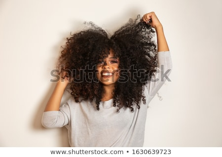 Stock photo: beautiful curly woman