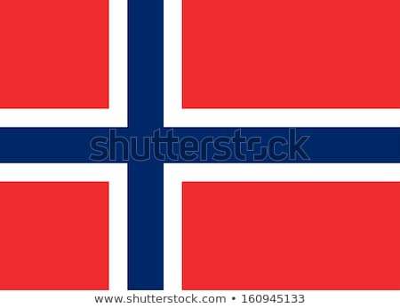 Норвегия флаг белый фон синий ветер Сток-фото © butenkow