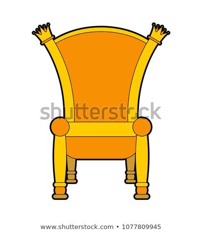 Real trono aislado oro silla fondo Foto stock © MaryValery