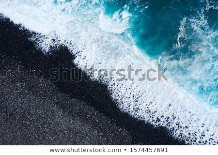 top view of a deserted beach coast of the island of tenerife a stock photo © vlad_star