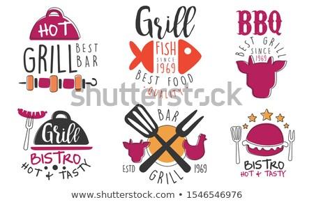 best simple bull head vector logo set stock photo © krustovin