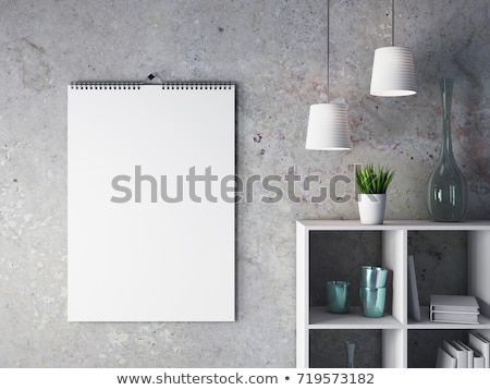 calendario · pared · 3d · 3D · fondo - foto stock © user_11870380