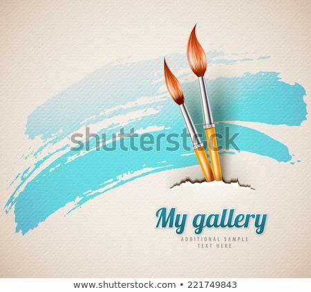 Arte creativa pincel aislado papel pintura Foto stock © konturvid