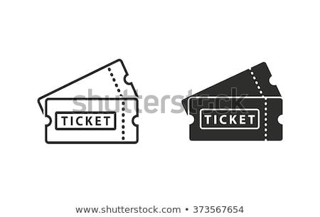 bağbozumu · sinema · bilet · ayarlamak · müzik · kâğıt - stok fotoğraf © angelp