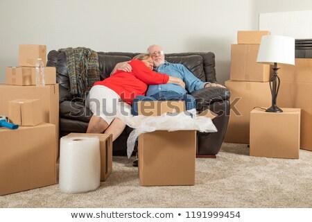 hartelijk · moe · senior · volwassen · paar - stockfoto © feverpitch