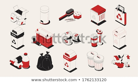 Waste and Manual Sorting Set Vector Illustration Stock photo © robuart