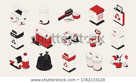 отдельный · мусора · коллекция · изолированный · белый · набор - Сток-фото © robuart