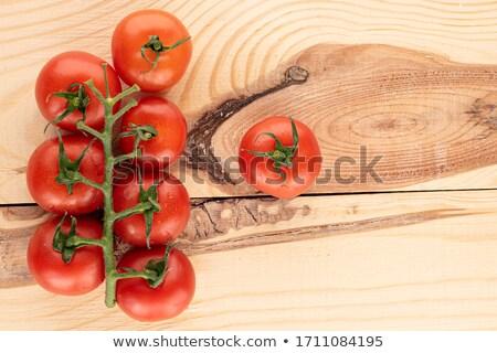 Foto stock: Orgánico · tomates · vid · albahaca · blanco · cocina