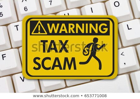 irs scam warning sign on keyboard stock photo © andreypopov