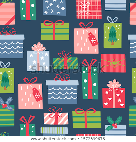 seamless gift box pattern stock photo © zsooofija