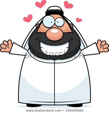 Cartoon Sheikh Hug Stock photo © cthoman