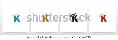 алфавит письме корона царя королева вектора Сток-фото © vector1st