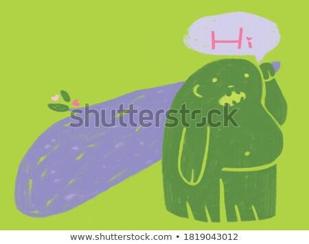 Cartoon глупый иллюстрация графических вектора Сток-фото © cthoman