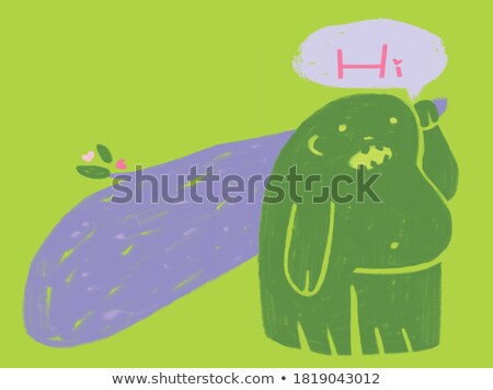 Cartoon Stupid Bigfoot Stock photo © cthoman