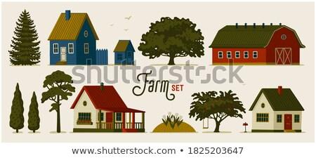 Verschillend ontwerp huis gebouw hout home Stockfoto © colematt