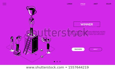Winner concept - modern isometric vector web banner Stock photo © Decorwithme