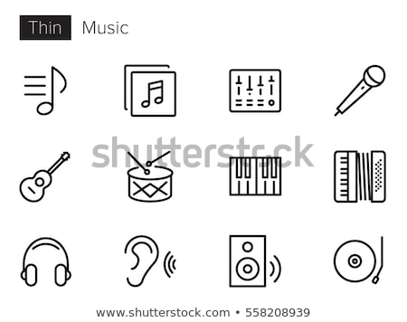 Guitar and Loudspeakers Set Vector Illustration Stock photo © robuart