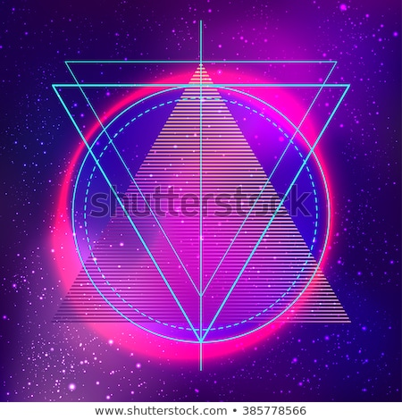 abstract vibrant memphis triangle background Stock photo © SArts