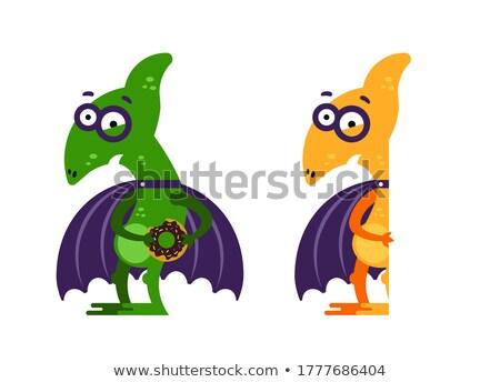 Cartoon illustratie weinig gelukkig dier vleugels Stockfoto © cthoman