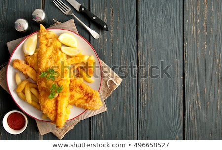 Сток-фото: Fish And Chips Background