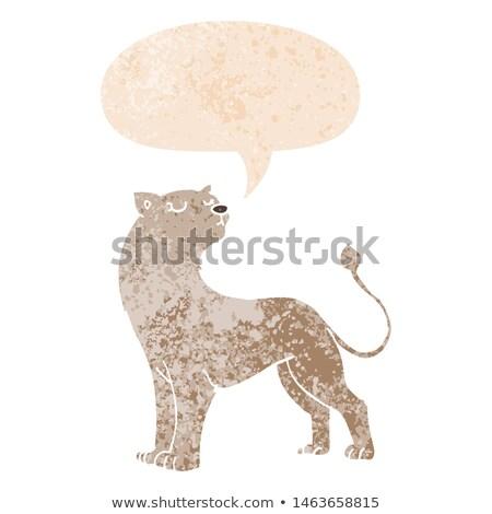 Talking Cartoon Lioness Stock photo © cthoman