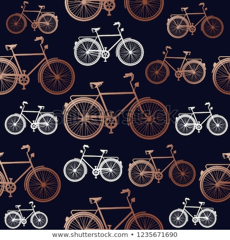Réz bicikli végtelen minta elegáns terv bicikli Stock fotó © cienpies