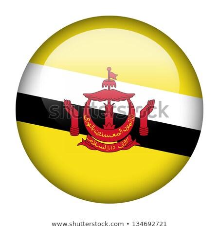 Brunei vlag sticker illustratie achtergrond witte Stockfoto © colematt