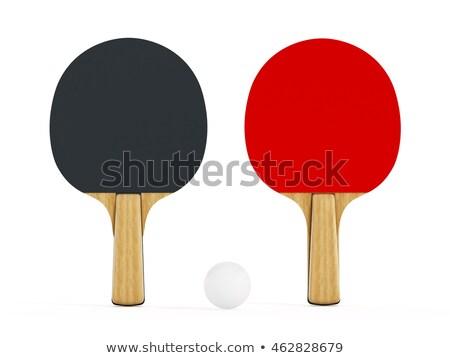 tafeltennis · racket · bal · geïsoleerd · witte · tabel - stockfoto © inxti