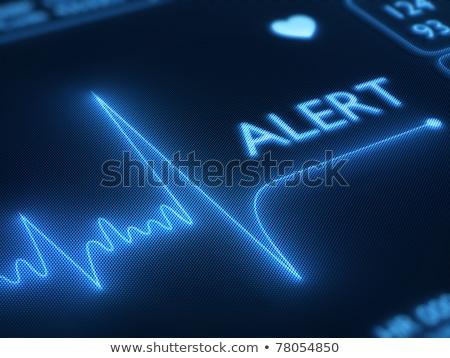 ストックフォト: Flat Line Alert On Heart Monitor