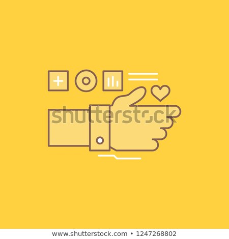 Heart line pulse flat vector icon over application button. Stock photo © kyryloff