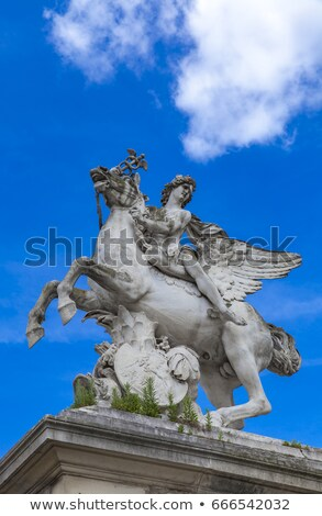 Statue Mercure monte sur Pegase in Tuileries Garden in Paris Stock photo © boggy