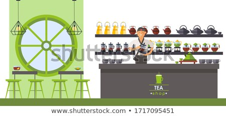 Male customer buying herbal tea stock photo © monkey_business