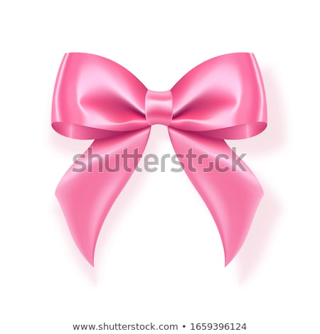 Realistic pink bow. Element for decoration gifts, greetings, holidays. Vector illustration stock photo © olehsvetiukha