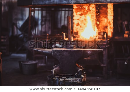 acél · üllő · fém · gyár · dolgozik · rajz - stock fotó © smoki