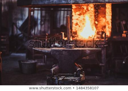 Anvil. Blacksmith equipment. Stock photo © smoki