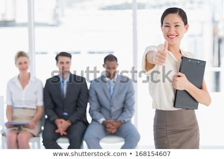Stockfoto: Glimlachend · jonge · elegante · man · wachten