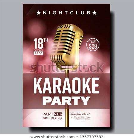 Karaoke poster vector dans muziek evenement Stockfoto © pikepicture