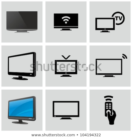 Stock photo: television monitor icon flat vector
