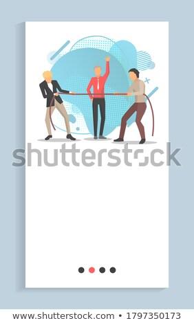 empresário · equilíbrio · apertado · corda · negócio · jovem - foto stock © robuart
