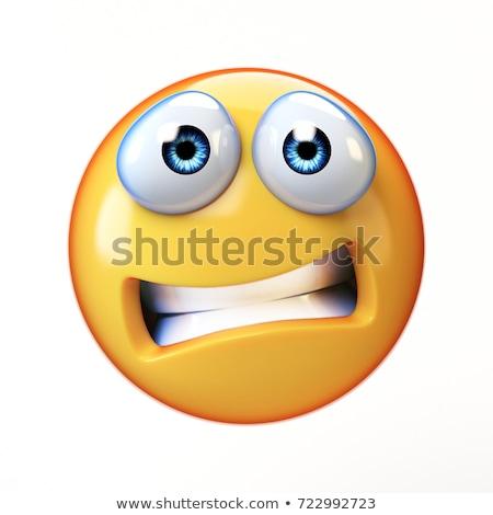 Mascot Smiley Nervous Illustration Stock photo © lenm