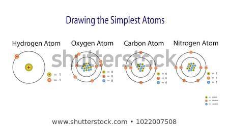 水素 原子 図 実例 デザイン 技術 ストックフォト © bluering