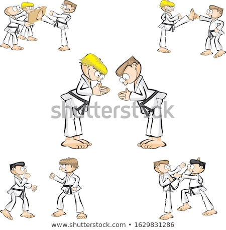 Karate icon set Stock photo © netkov1