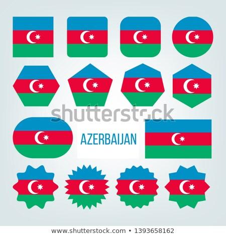 bandera · Azerbaiyán · signo · viaje · país · botón - foto stock © pikepicture