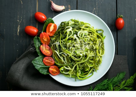 Cukkini tészta tál zöldség zöld étel Stock fotó © tycoon