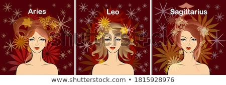 vector cute Zodiac sign icon Stock photo © VetraKori