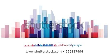 Streszczenie miasta metropolia wysoki wieżowce wektora Zdjęcia stock © robuart