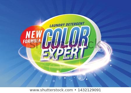 Lavanderia detergente cor especialista acondicionamento modelo Foto stock © SArts