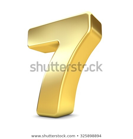 Number seven on white background. Isolated 3D illustration Stock photo © ISerg