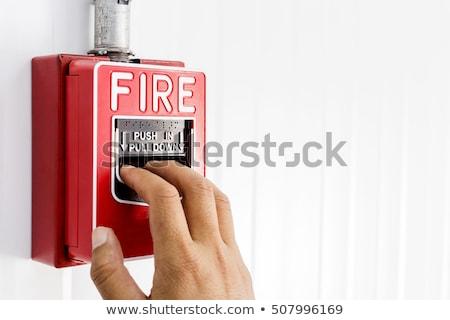 レトロな · 火災警報 · 予防 · オフィス · 水 · セキュリティ - ストックフォト © winner